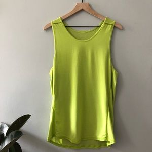 Lululemon Neon Green quick dry muscle too size 12